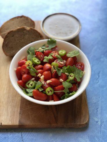 סלט עגבניות חריף. צילום: זהר לוסטיגר בשן