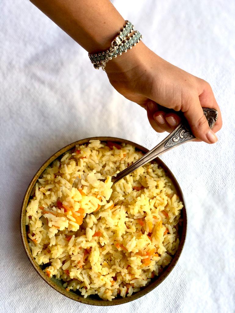 אורז שנעמה הכי אוהבת. צילום: זהר לוסטיגר בשן